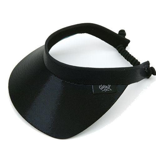 Glove It Ladies Solid Tennis Visors (w/Twist Cord) - Black Clear Dot