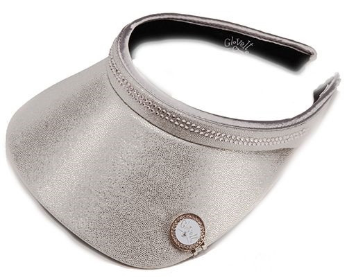 Glove It Ladies Bling Tennis Visors (Comfort Clip) - Silver Bling