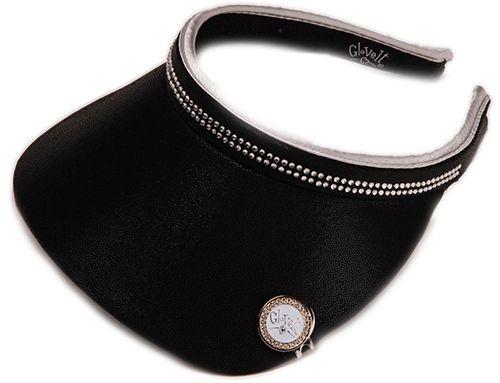 Glove It Ladies Bling Tennis Visors (Comfort Clip) - Black Bling