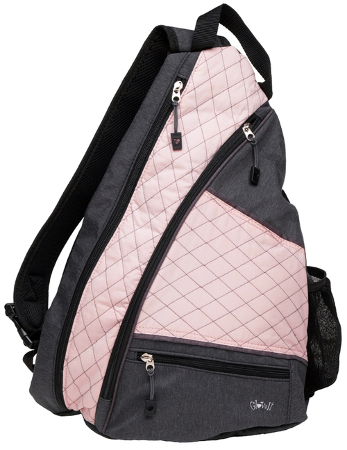 Glove It Ladies Pickleball Sling Bags - Rose Gold Quilt