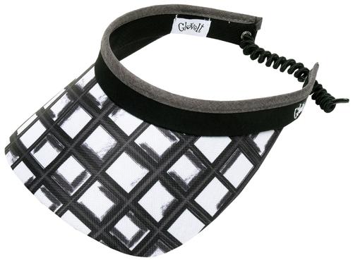 Glove It Ladies Print Tennis Visors (w/ Twist Cord) - Abstract Pane
