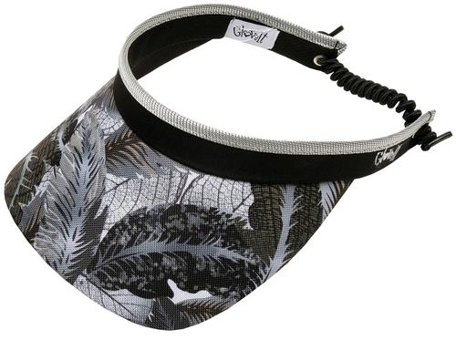 Glove It Ladies Print Tennis Visors (w/ Twist Cord) - Shaded Leaf