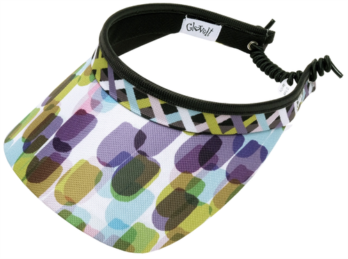 Glove It Ladies Print Tennis Visors (w/ Twist Cord) - Geo Mix