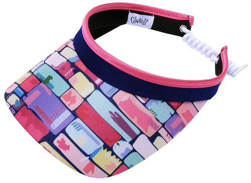 Glove It Ladies Print Tennis Visors (w/ Twist Cord) - Tile Fusion