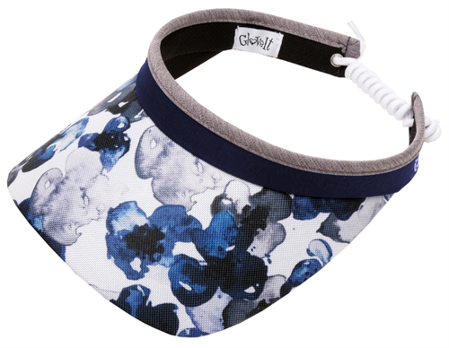 Glove It Ladies Print Tennis Visors (w/ Twist Cord) - Indigo Poppy