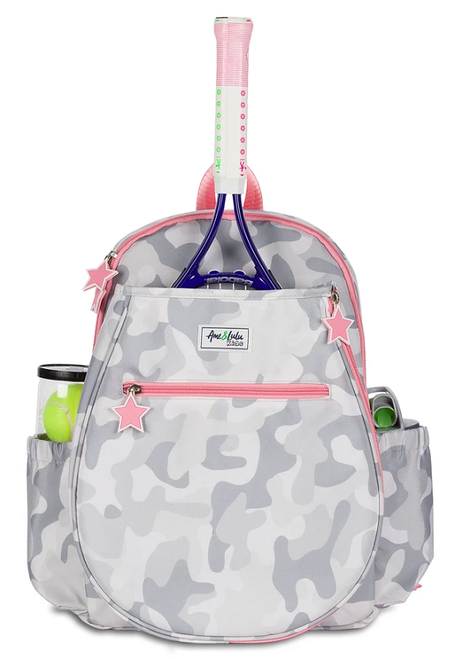 Ame & Lulu Girl's Big Love Tennis Backpacks - Grey Camo