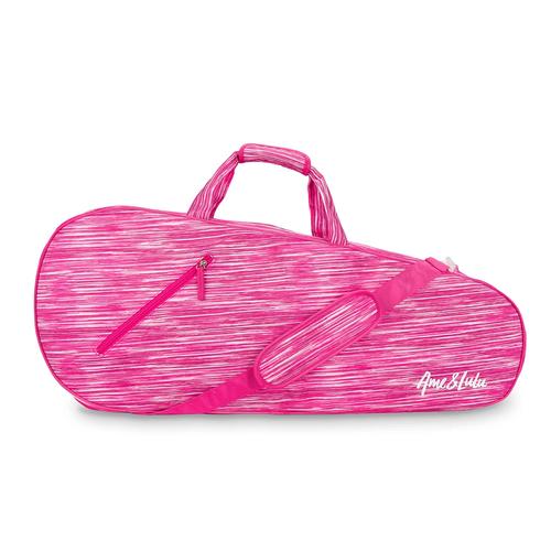 Ame & Lulu Ladies 3 Racquet Tennis Bags - Pink Grunge