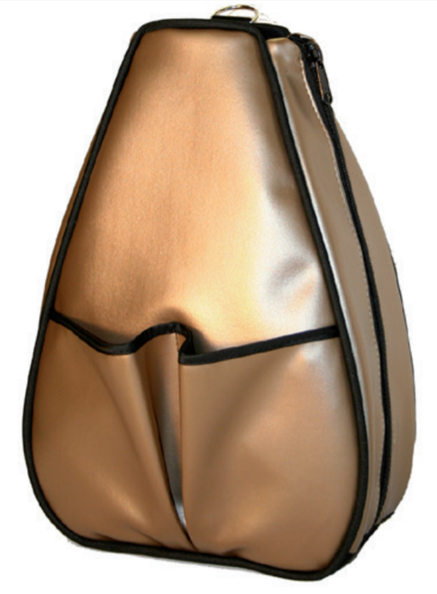 40 Love Courture Ladies Sophi Tennis Backpacks - Bronze Faux with Black Lining