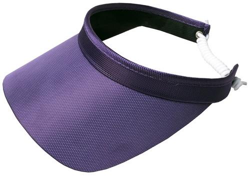 Glove It Ladies Solid Coil Tennis Visors - Purple
