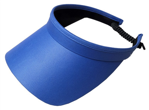 Glove It Ladies Solid Coil Tennis Visors - Blue