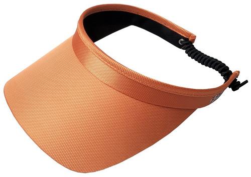 Glove It Ladies Solid Coil Tennis Visors - Orange