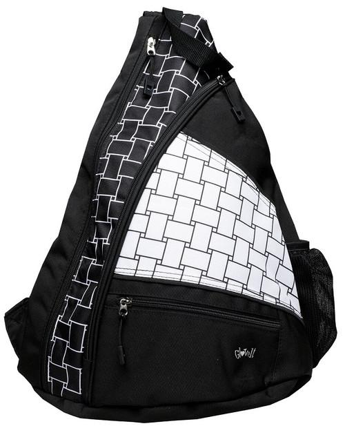 Glove It Ladies Pickleball Sling Bags - B/W Basketweave