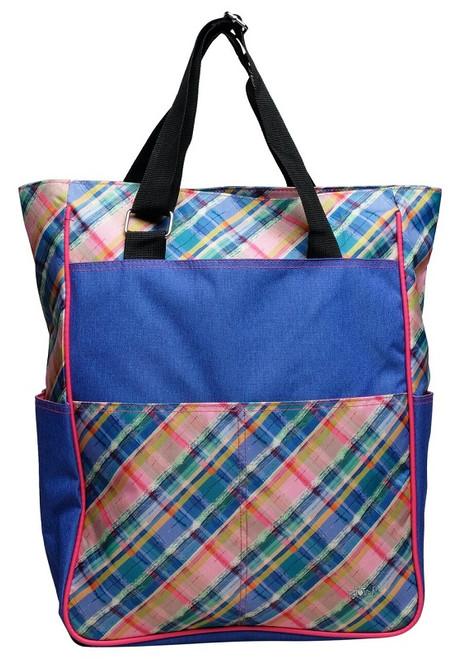 Glove It Ladies Tennis Tote Bags - Plaid Sorbet