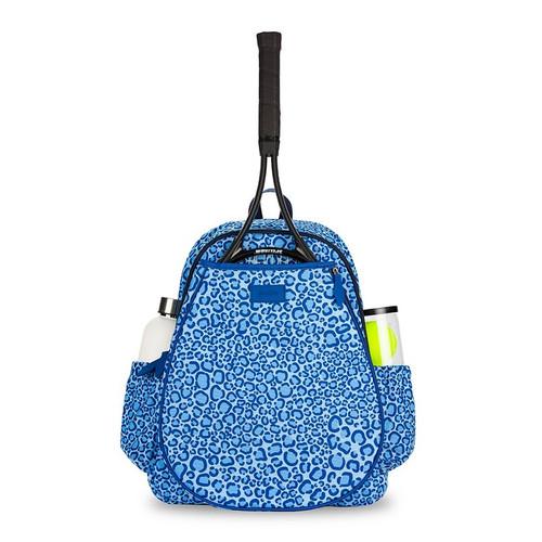 Ame & Lulu Ladies Game On Tennis Backpacks - Blue Leopard
