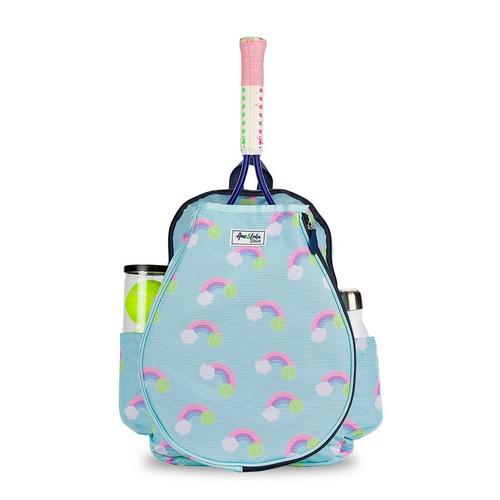 Ame & Lulu Girl's Little Love Tennis Backpacks - Pastel Rainbow