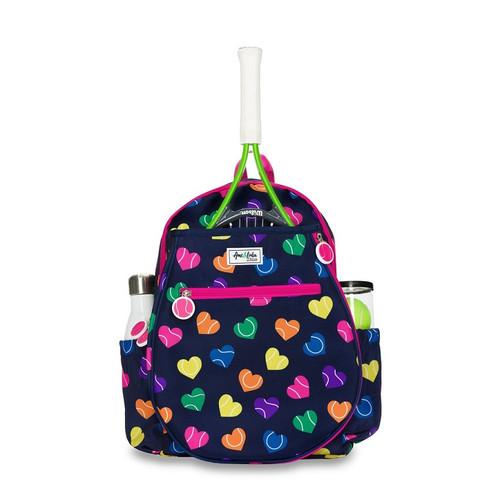 Ame & Lulu Girl's Big Love Tennis Backpacks - Rainbow Serve