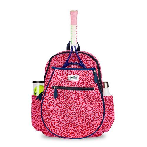 Ame & Lulu Girl's Big Love Tennis Backpacks - Pink Leopard