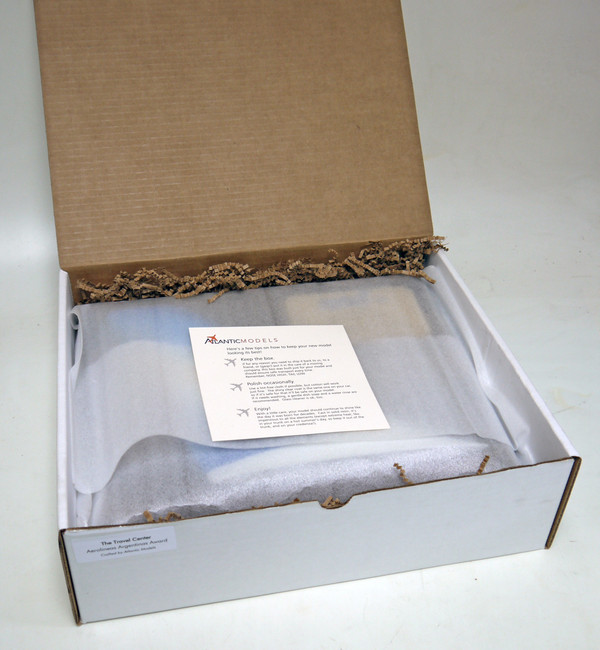 Product ships in a gift box and outer shipping carton for protection.