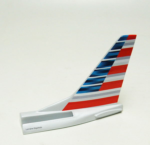 AMERICAN AIRLINES B767 TAIL CARD HOLDER