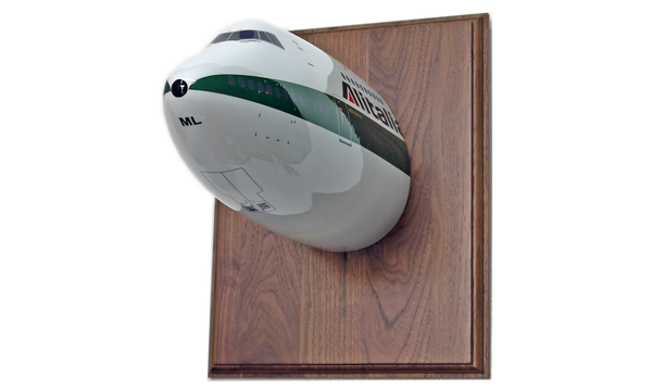 Alitalia wall-mounted B747 nose (wood sold separately)