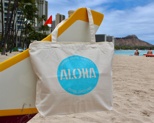 Aloha Patch Natural Tote
