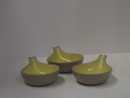 Set of 3 Pottery Spoon Rest