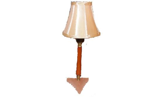 Depression Glass and Bakelite Lamp