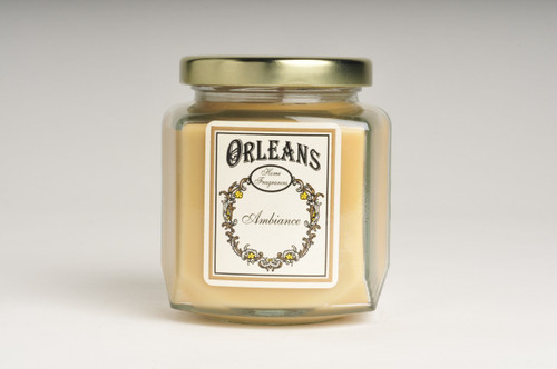 Orleans Brass Lid Glass Jar Candle