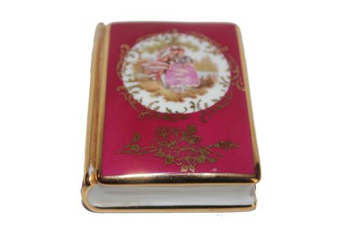 "Vintage Limoges ""Young Lovers"" Trinket Box"