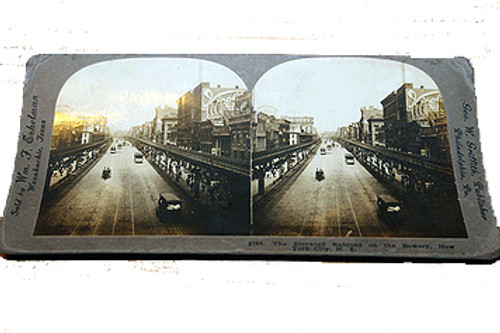 Stereoview Card - Elevated Railway