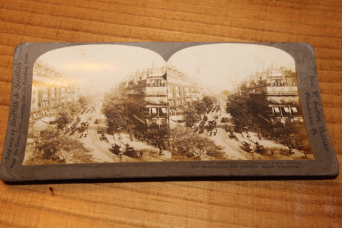 Stereoview Card - The Boulevard des Italiens