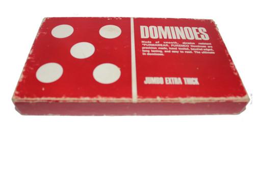Red Bakelite Double Six Domino Set