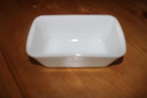 Vintage White Milk Glass Ceramic Westinghouse Loaf Pan