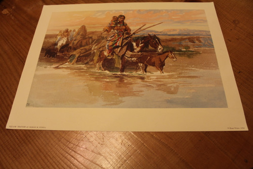 Squaw Travois By Charles M. Russell
