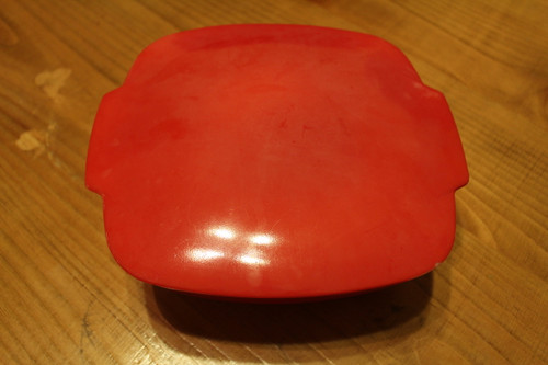 Vintage Pyrex Red Hostess Bowl and Casserole Dish with Lid