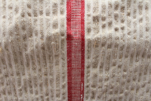 "1880 Two Tone Linen Runner 20 "" Farm Loom German"