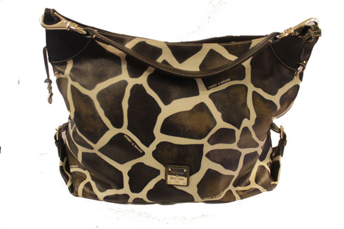 Dooney & Bourke Extra Large Signature Giraffe Leather Shoulder Bag