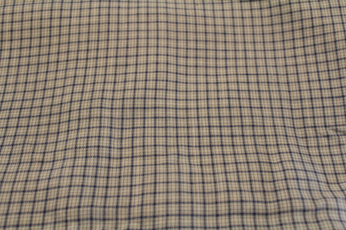 Blue / Green/White Plaid Cotton Fabric
