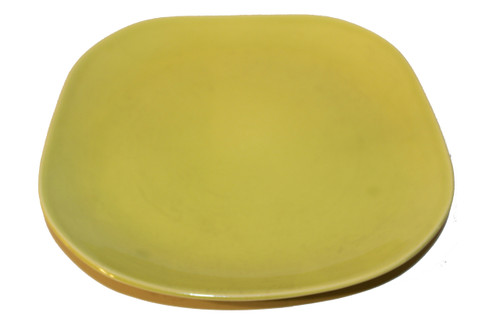 """Vintage 1940 - 1950's Red Wing Quartette Dinnerware Concord Shape - 10 1/2"""" Chartreuse Dinner Plates (price is per plate)"""