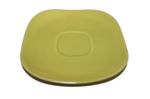 """Vintage 1940 - 1950's Red Wing Quartette Dinnerware Concord Shape  - 6 1/4"""" Chartreuse Saucer (price is per plate)"""