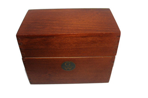 """Antique Globe Wernicke index card box from the 1920's.  No. 83-C Junior tray.  Measures 5.5"""" W x 4.25"""" H x 3"""" D"""