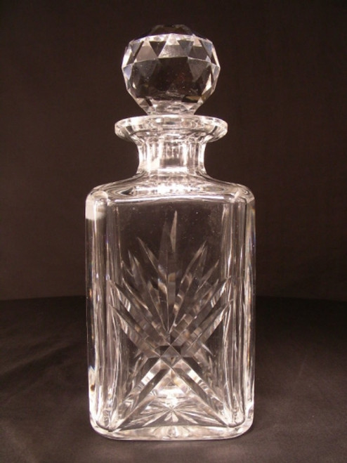 Square Crystal Decanter by Thomas Webb England