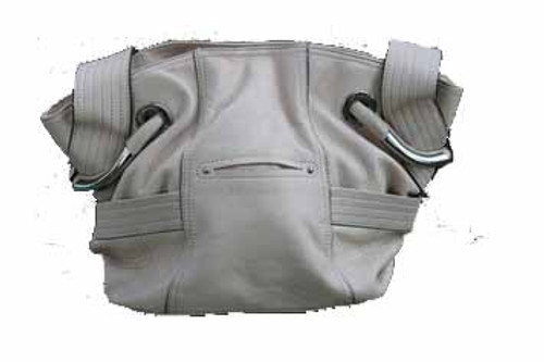 B Makowsky Leather Handbag - Front View