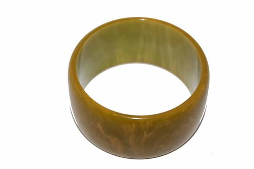 Marbled Light Green Bakelite 1.5 inch Bracelet