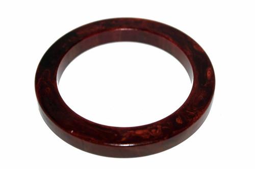 Marbled Dark Brown Bakelite Bangle