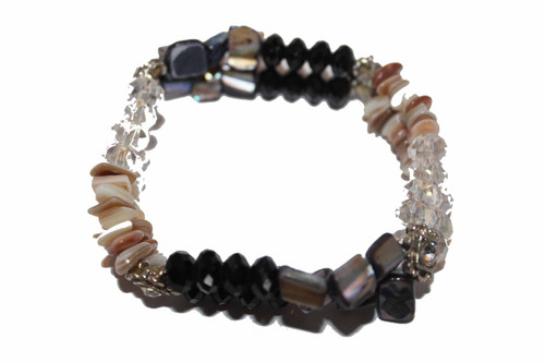 Bead and Shell Stretch Bracelet
