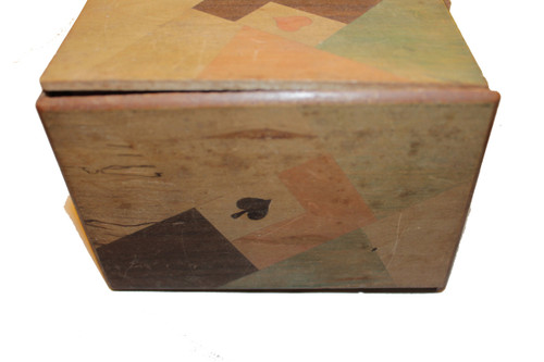 Wood Two Deck Playing Card Box