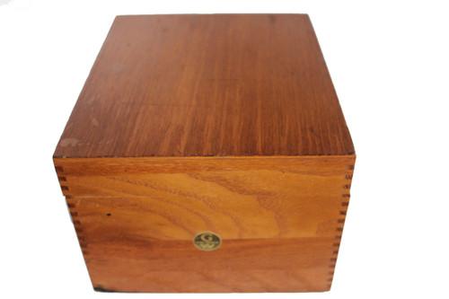 Vintage Globe Werinke Oak Index Box No 7510-C