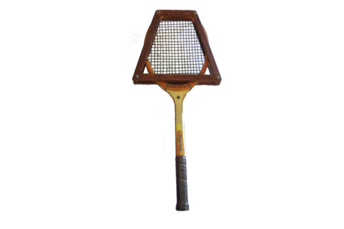 Vintage Pancho Gonzales Tennis Racket by Spalding with Wood Frame