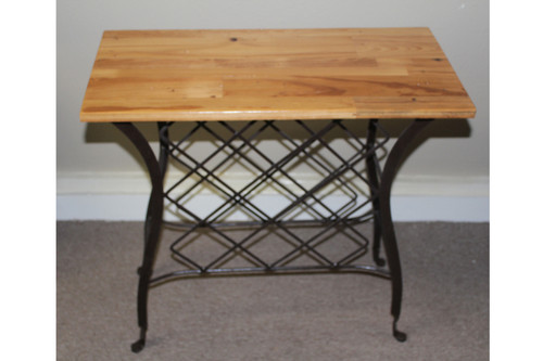 Vintage Wrought Iron Wine Stand Serving Bar